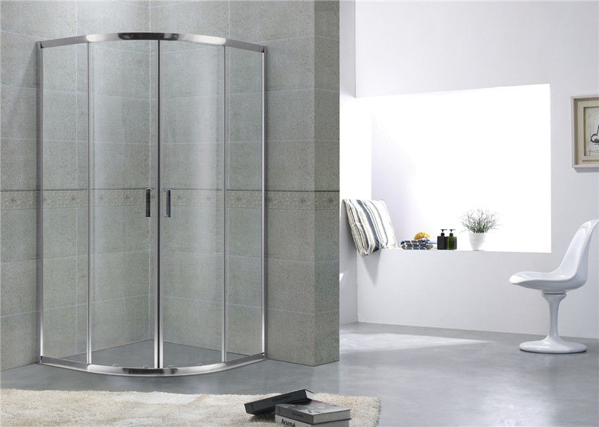 Popular Simple Quadrant Shower Enclosures Aluminum Alloy For Apartment / Hotel