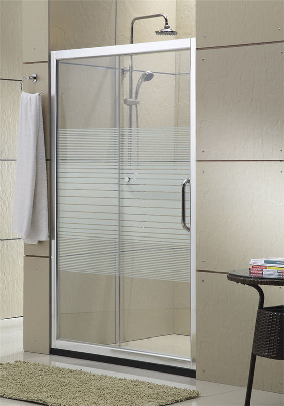 Simple Design Glass Shower Screen Brushed Aluminum Alloy For House / Apartment