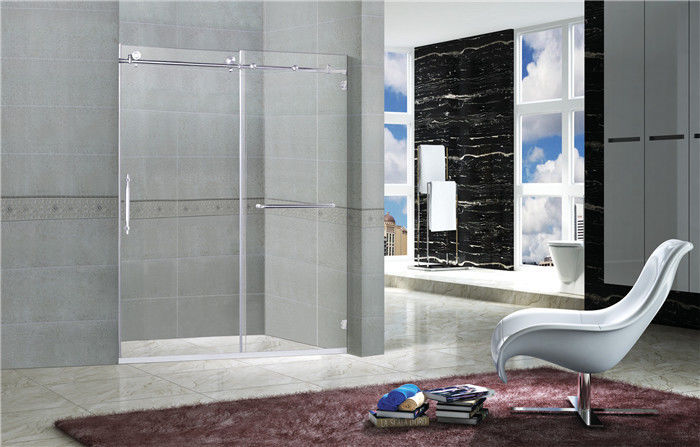 Clear Tempered Frameless Sliding Glass Doors / Shower Stall Enclosures CCC Certification