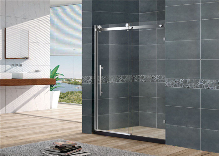 Sliding Frameless Glass Shower Doors Tempered Glass SGCC Certification For Home