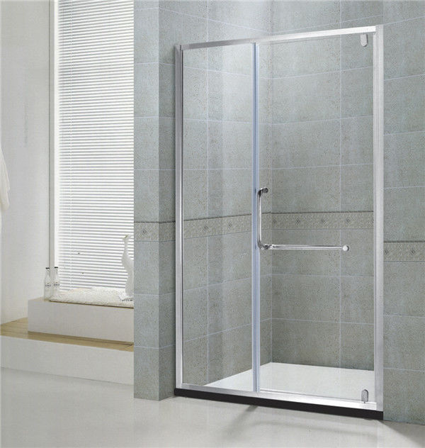 Swing Pivot Aluminum Alloy Shower Enclosures With Frames Chromed Tempered Glass for Home