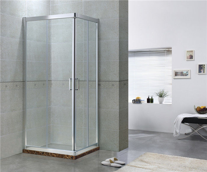 Sliding Aluminum Alloy Shower Doors with Stainless Steel Wheels for Apartment / Hotel