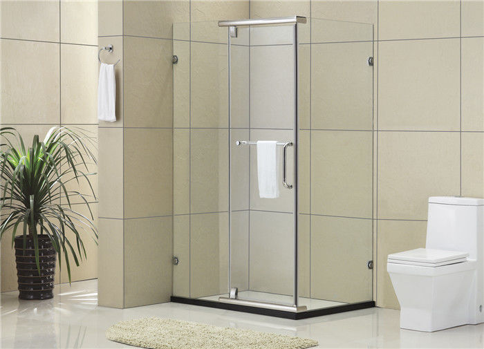 Square Framesless Stainless Pivot  Shower Enclosures 8 / 10 MM Tempered Glass for Home / Hotel