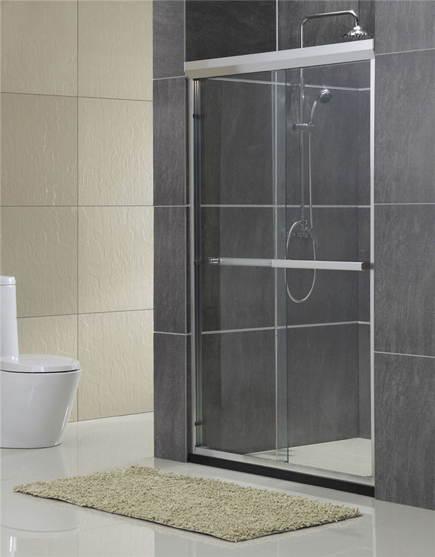 Aluminum Alloy Inline Double Work Shower Enclosure With Same Material Accessories 8 / 10 MM