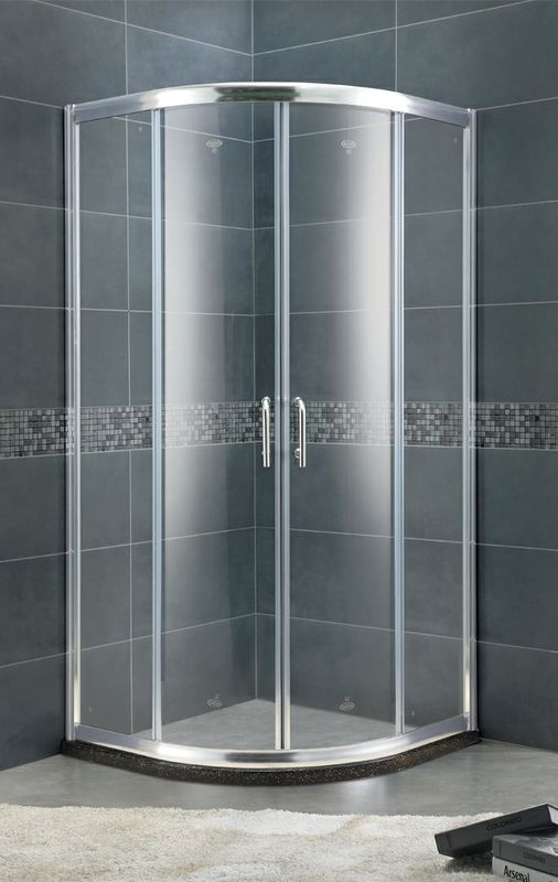 Aluminum Alloy Setor Shower Stalls 6 MM Clear / Forsted Tempered Glass With Bright Silver Profiles