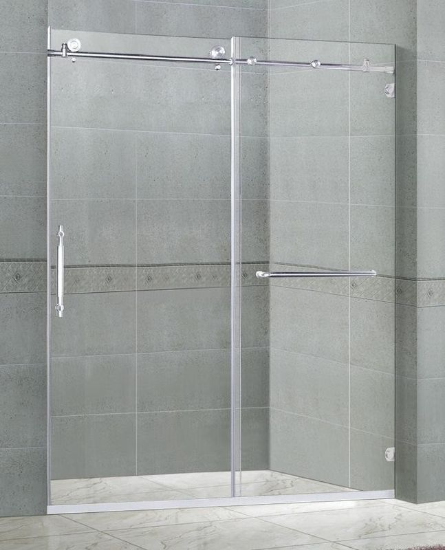 10MM Clear Tempered Sliding Glass Shower Doors Free Installation CCC Certification