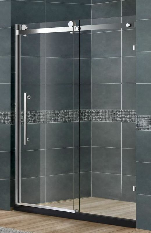 Self Cleaning Frameless Shower Cubicle / Frameless Sliding Glass Shower Doors EN12150